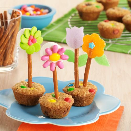 Image of 'Flower Pot' Oatmeal Cookies