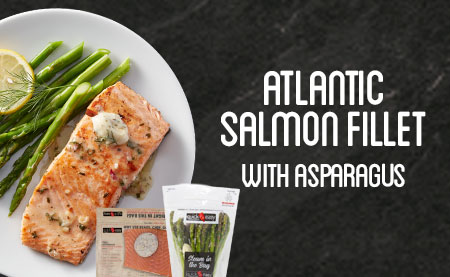 Atlantic Salmon Fillet with Asparagus
