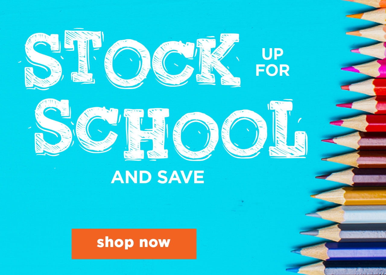 Stock up for school and save