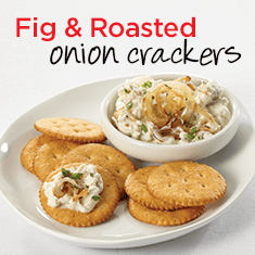 fig and roasted onion crackers