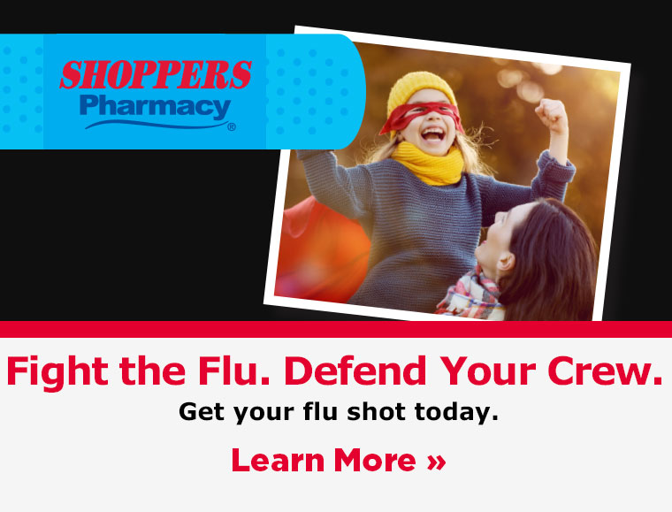 Fight the flu. Defend your crew. Get your flu shot today.